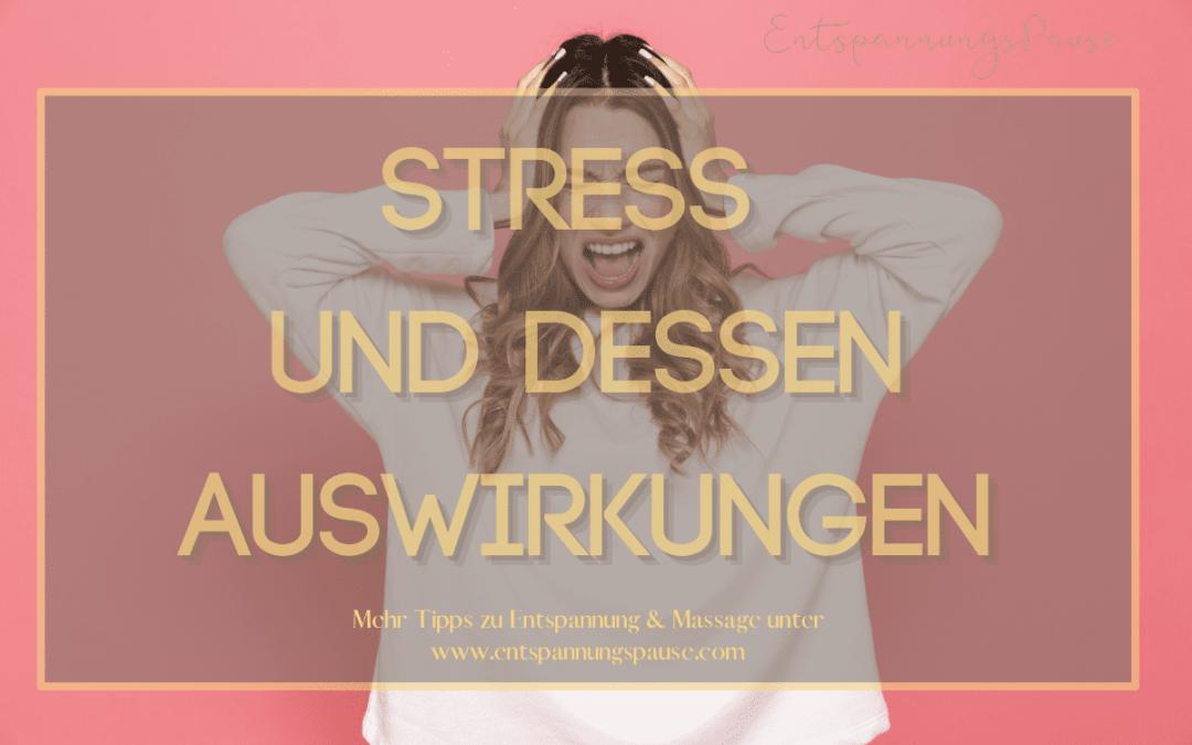 Stressreaktionen und dessen Auswirkungen Entspannungspause